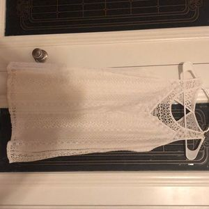 White summer dress lace